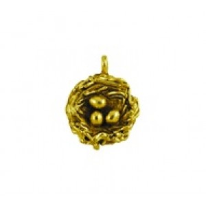 Bird Nest with Eggs #6167NM | Quest Beads & Cast - Charms and Beads Made in the USA
