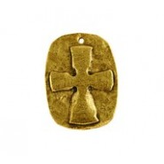 Cross Relief On Oval Disc #4965