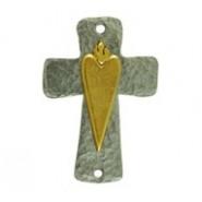 Cross With Sacred Heart -2-Tone #6328