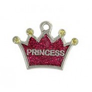 """Princess"" Dog Or Cat Tag With Glitter #4534GL"