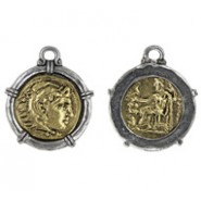 Roman Coin In Bezel- 2-Tone #6377