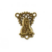 Rosary Connector With Mary (3-Loops) #6057